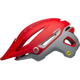 Bell Sixer MIPS Pyöräilykypärä , harmaa/punainen